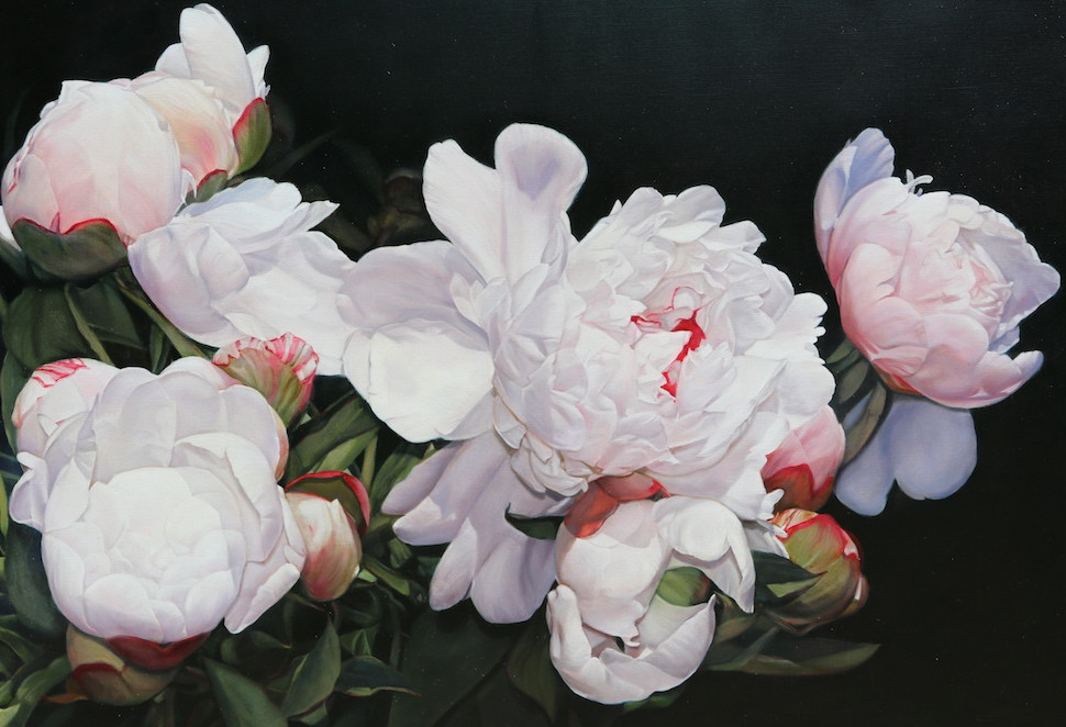 Heather's peonies 147 x 102 cm (SOLD)