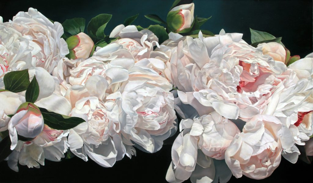 Peonies Celebration 114 x 195 cm (SOLD)