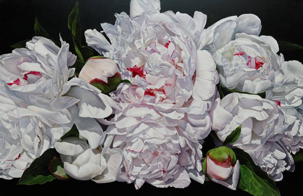 Michelle's Peonies 173 x 112 cm (SOLD)