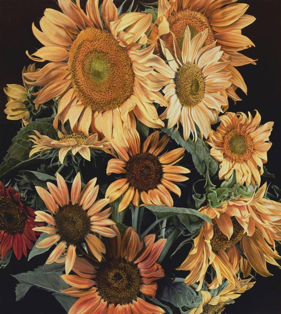 Marjorie's Sunflowers 122 X 122 cm (SOLD)