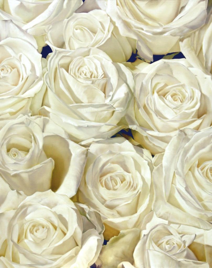 White Roses 121 x 152 cm (SOLD)
