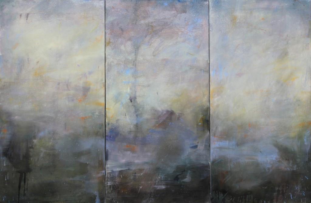 French Landscape Triptych, 100 x 150 cm