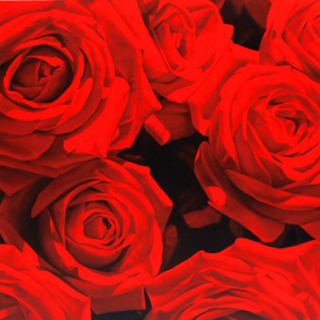 Red Roses 1, 120 x 120 cm